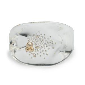 🔮New Liquid Lucite Diamond Dust Cuff Bracelet